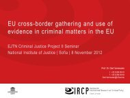 EU cross-border gathering and use of evidence in criminal ... - EJTN