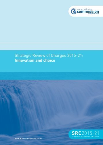 Innovation and choice - Water Industry Commission for Scotland