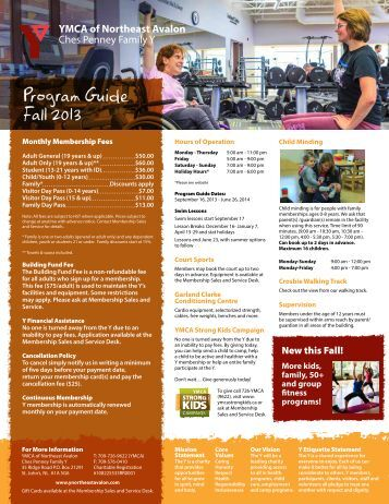 Ches Penney Family Y Program Guide Fall 2013 - the YMCA of ...