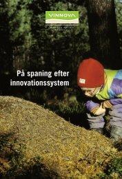 PÃ¥ spaning efter innovationssystem - Vinnova