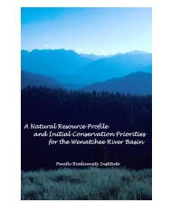 Wenatchee Basin Natural Resource Profile and Conservation ...