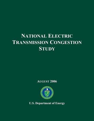 National Electric Transmission Congestion Study - W2agz.com