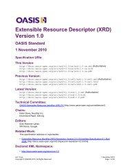 Extensible Resource Descriptor (XRD) Version 1.0 - docs oasis ...