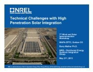 Technical Challenges with High Penetration Solar Integration