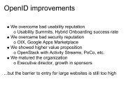 OpenID improvements - OpenID Wiki