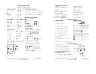 Algebra Cheat Sheet (Reduced) - Pauls Online Math Notes