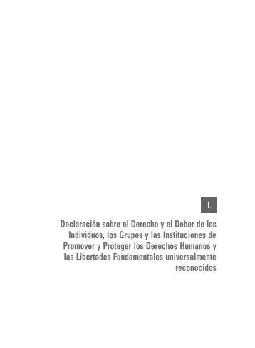 Declaración sobre el Derecho y el Deber de los Individuos, los ...