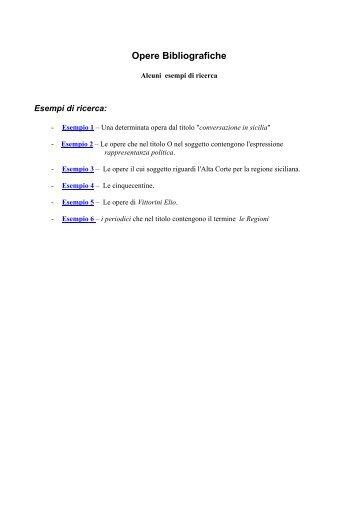 Esempi di ricerca - Assemblea Regionale Siciliana