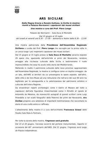 gli spettacoli luci e ombre es - Assemblea Regionale Siciliana