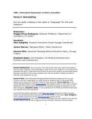 Transcript - International Symposium on Online Journalism