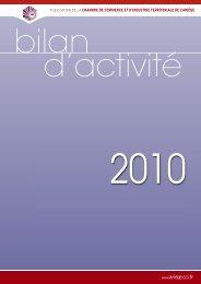 Bilan d'activité 2010 - CCI Ariège