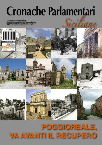 poggioreale, va avanti il recupero - Assemblea Regionale Siciliana