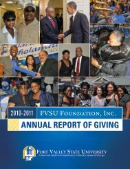 2011 Annual Report of Giving - Fort Valley State University