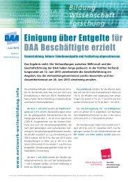 Einigung über Entgelte für DAA Beschäftigte erzielt - Netzwerk ...