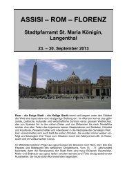 Assisi-Rom-Florenz - katholische Kirchgemeinde Langenthal