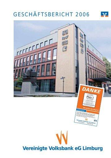 Jahr 2006 - Vereinigte Volksbank eG Limburg