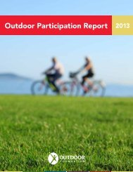 Outdoor Participation Report 2013 - The Outdoor Foundation