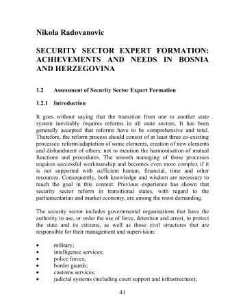 Thesis security sector reform