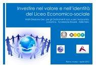 Investire nel valore e nell'identità del Liceo Economico-sociale