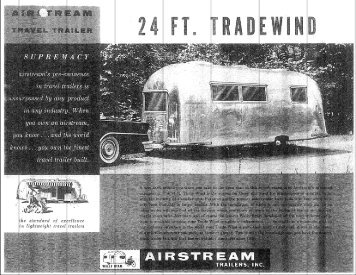 Tradewind Specifications and Floor Plans - Airstream