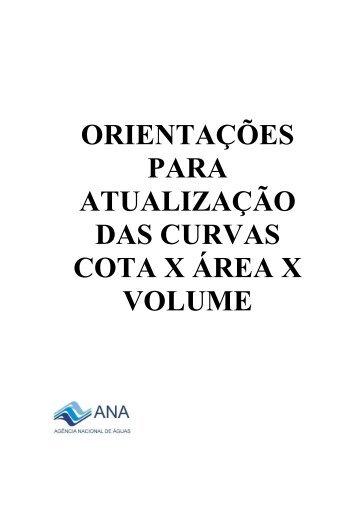 Orientações para a atualização das Curvas Cota - Área ... - Ana