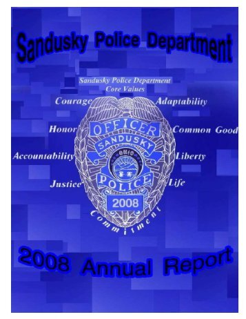 2008 ANNUAL REPORT - City of Sandusky