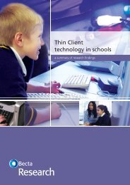 Thin client technology in schools