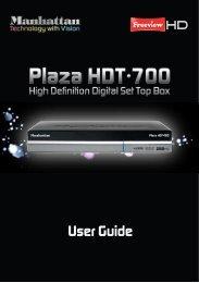 Plaza HDT-700 User Guide - Manhattan