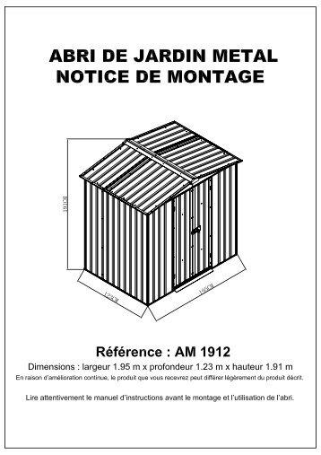 Control of morphologyacti - Notice de montage abri de jardin metal ...