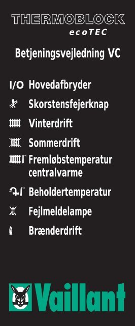 Betjeningsvejledning VC - Vaillant