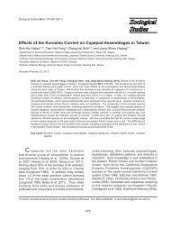 Effects of the Kuroshio Current on Copepod Assemblages in Taiwan