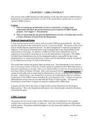 CDBG Contract - Nebraska Department of Economic Development
