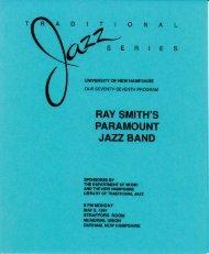 RAY SMITH'S JAZZ BAND - University of New Hampshire