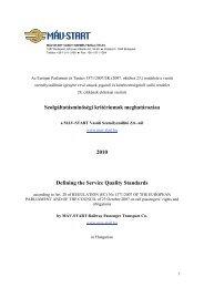Szolgáltatásminőségi kritériumok meghatározása 2010 ... - Elvira