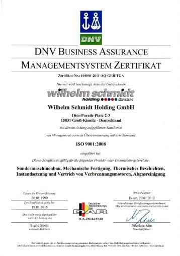 dnv business assurance management system certificate - Yara Praxair