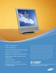 Download Spec Sheet - Monitor Galaxy