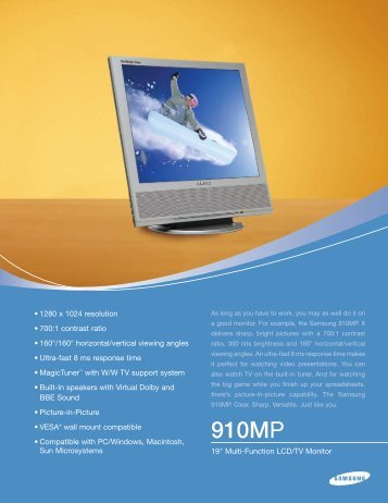 Download Spec Sheet - Monitor Galaxy