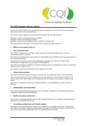 Customer service charter - Chartered Quality Institute