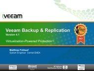Veeam Backup & Replication Version 4.1 - ISO Datentechnik GmbH