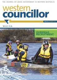 THE JOURNAL OF LOCAL GOVERNMENT IN WESTERN ... - walga