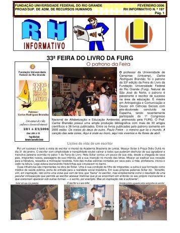 33ª FEIRA DO LIVRO DA FURG - progep