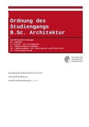 Ausführungsbestimmungen - Technische Universität Darmstadt