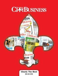 CityBusiness Media Kit - New Orleans City Business