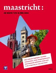 Stadsgids Nederlands Download hier de brochure - VVV Maastricht