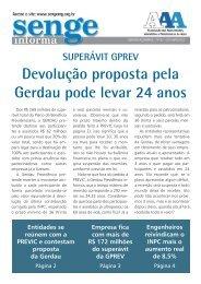 Clique aqui e veja o Jornal Informativo sobre a GPREV ... - Senge-MG
