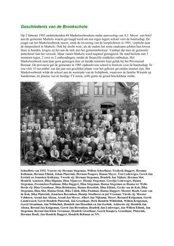 Geschiedenis van de Brookschole - De Hofmarken