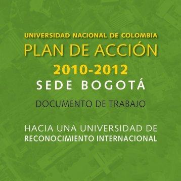 Descargue aqui el Plan de Acción de Sede 2010 - 2012