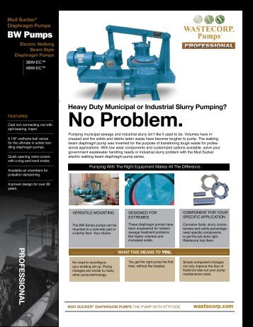 Stationary fact sheet (pdf) - Wastecorp Pumps