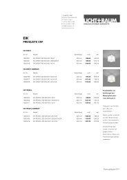 PREISLISTE CHF - Licht+Raum AG