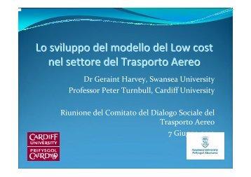 Lo sviluppo del modello del Low cost nel settore del ... - Filt Cgil